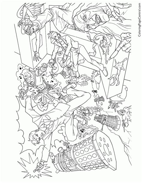 free doctor who coloring pages az coloring pages