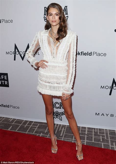 kaia gerber heels kaia and preseley gerber at daily front row s media awards