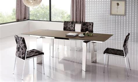 modern style dining tables stylish extendable dining table with metal legs esf95dt
