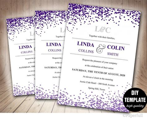 einladung hochzeit lila purple wedding invitation templates wblqual