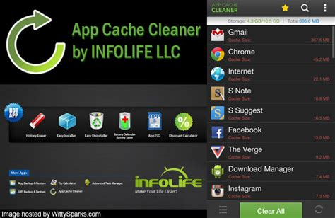 cache cleaner for android is your android running out of memory then try app cache cleaner wittysparks