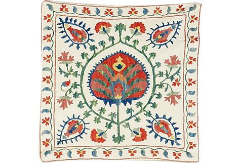 uzbek hand embroidered silk suzani one kings lane 78 best images about seret on pinterest peacocks santa