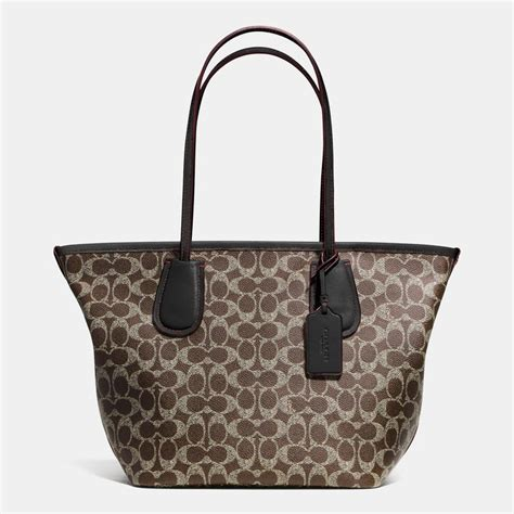 Coach Signature Batik Print Kit by Coach Taxi Zip Top Tote In Signature Canvas Where To Buy
