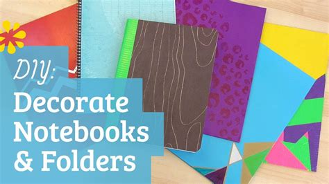 Decorating Notebooks For School by Back To School Decorate Notebooks And Folders