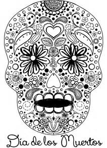 dia de los muertos skull coloring pages crafting dead colouring pages