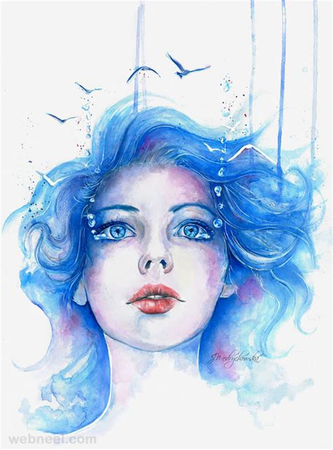 watercolor woman tutorial 30 best watercolor paintings from top artists around the world