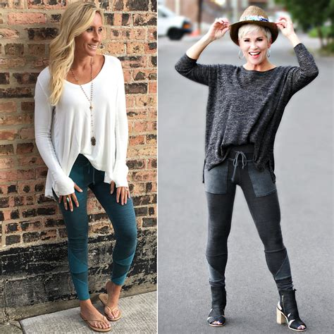 put together wardrobe for women over 50 athleisure from lindsay and me chic over 50
