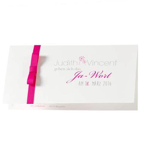 Hochzeitseinladungen Mit Band by Hochzeitseinladung Quot Quot Schlichte Einladungskarte