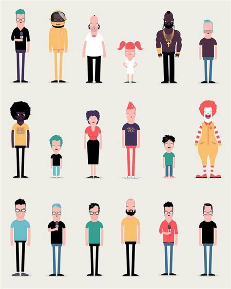 flat character animation google search character