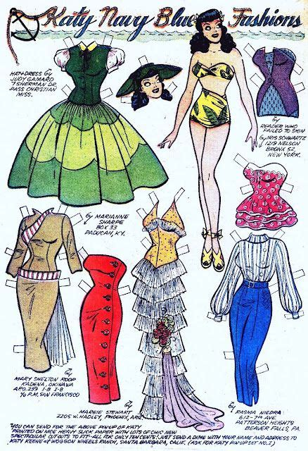 Paper Closet Clothing by Paper Dolls Paper And Clothes On