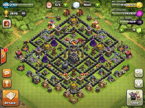defense layout in coc best layout for town hall level 9 coc myideasbedroom com