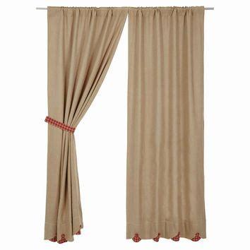 red burlap curtains shop burlap curtains on wanelo