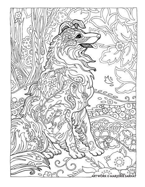 coloring book album leak dazzling dogs от marjorie sarnat coloring pages for