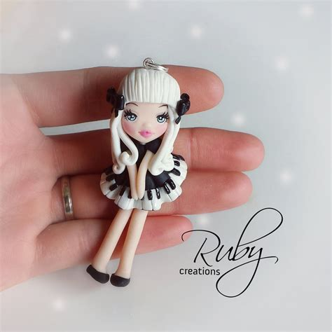 doll polymer clay the pianist polymer clay doll necklace by ruby