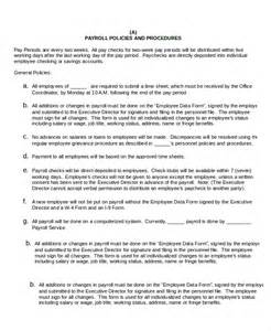 policies and procedures template procedure template 5 free word documents