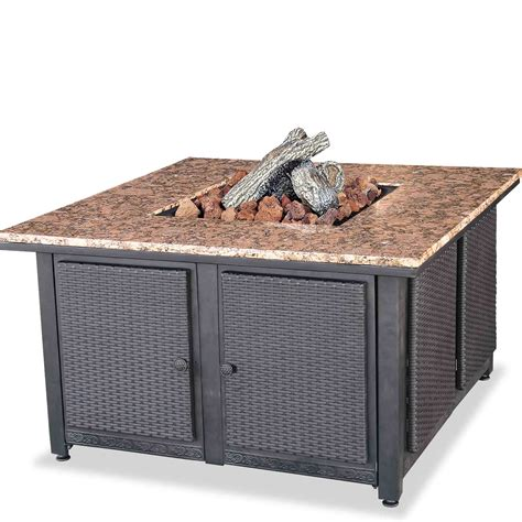 granite pit table costco square propane gas table with granite mantel dfohome