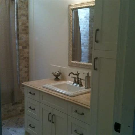 bathroom vanity with linen tower 78 best images about bathroom on pinterest porcelain sink bathroom cabinets and