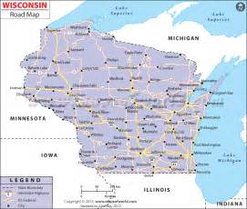 wisconsin map wisconsin road map http www mapsofworld