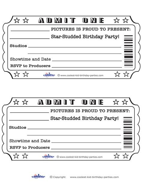 ticket birthday invitation template ticket invitation admit one urbanitystudios