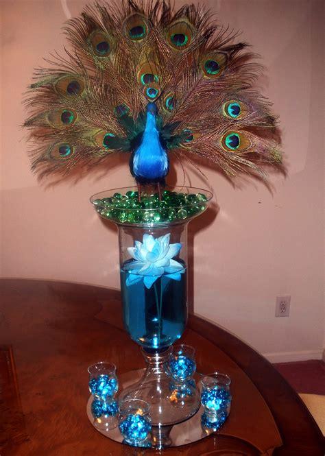 S Creations Birthday Theme Centerpieces Peacock Center Raji Creations