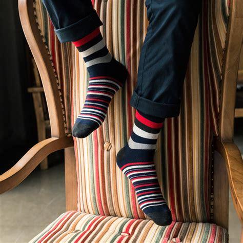 patterned business socks men s socks striped print business dress sock