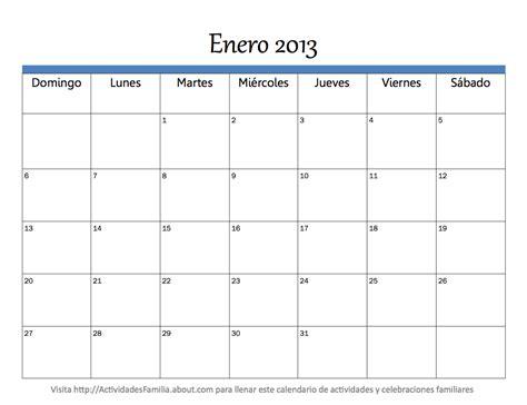 Calendario Mes Imprimir Calendario 2013 Mes A Mes Universo Guia
