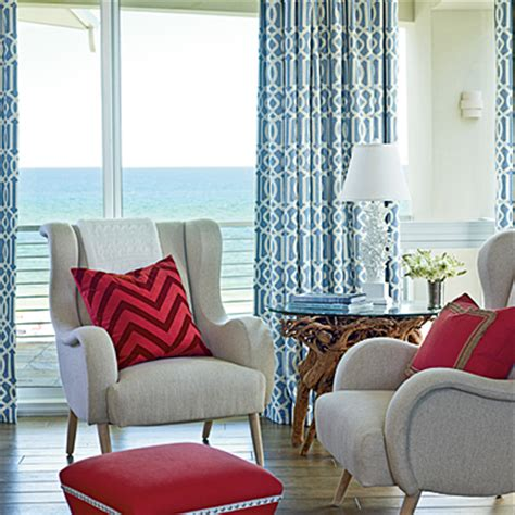 red and blue home decor coastal colors red white blue coastal living