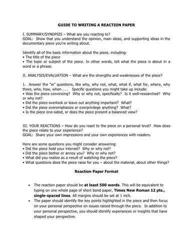 steps in writing a reaction paper essay tips how to write a reaction paper