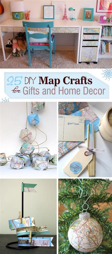 diy home decor gifts 25 diy map crafts for gifts and home decor