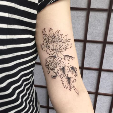 small chrysanthemum tattoo best 25 chrysanthemum ideas on