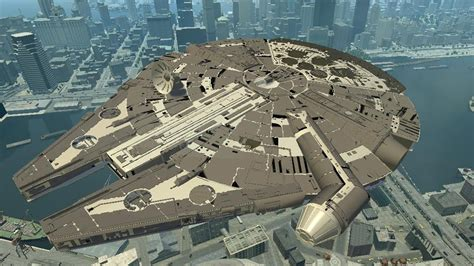 gta 5 starwars mod gta iv star wars the millennium falcon mod hd youtube