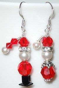 christmas earrings adults so santa and mrs claus earrings set uses sparkling swarovski and pearls