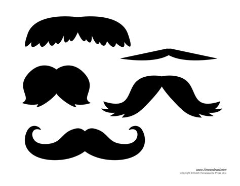printable mustache templates mustaches for kids