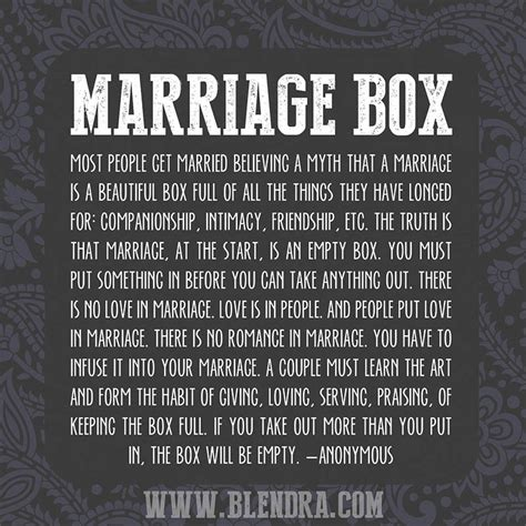 Wedding Box Poem by The Marriage Box Of Dares Blendra