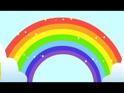 how many colors does a rainbow rainbow song animated learning song for children