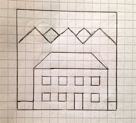 drawing graph drawing pictures drawing pictures using graph paper