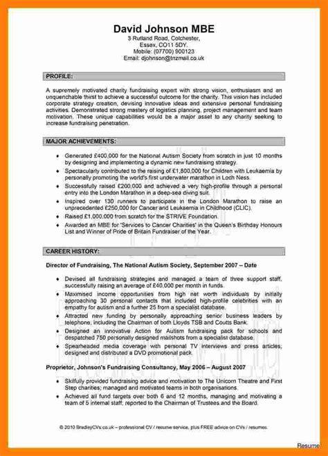9 cv profile exles theorynpractice