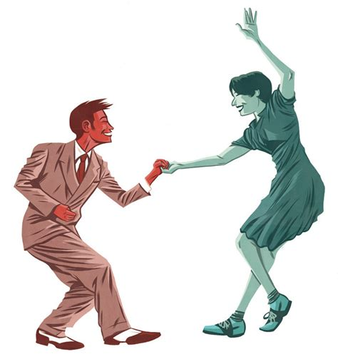 swing dance clip art cartoon couple dancing cliparts co