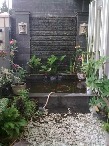 desaingambar kolam taman air rumah minimalis freewaremini