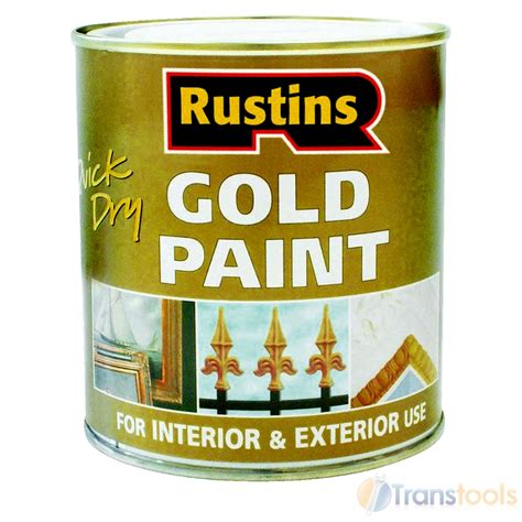 rustins drying gold paint wood and metal 250ml ebay