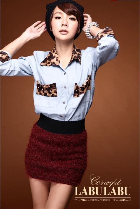 919169 Baju Fashion 3 In 1 Korea Import China Olahraga Milss Out Gaul kemeja import leopard model 2015 myrosefashion