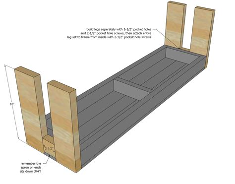 bench blueprints 2x4 bench plans