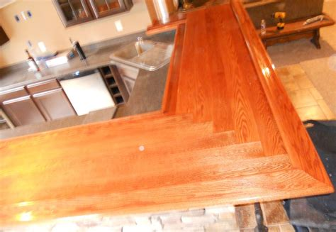 oak bar top bar top by wrench lumberjocks com woodworking community