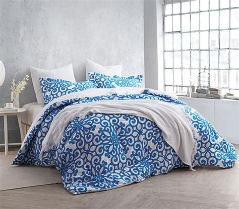 twin comforter blue crystalline blue twin xl comforter set college ave