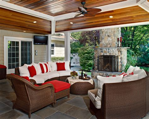 backyard beauty traditional porch  york