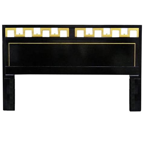 greek key headboard greek key black and gold lacquered king headboard for sale