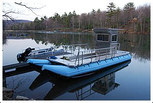 inflatable pontoon work boat d i b inflatable rafts rescue boats workboats