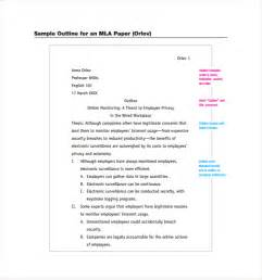 Exles Of Essays In Mla Format by Mla Format Template Cyberuse