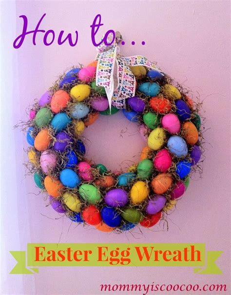 how to make an easter wreath with plastic eggs how to make an easter egg wreath easter eggs straw