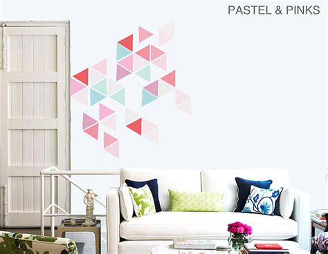 oversized wall stickers large geometric triangle vinyl wall stickers